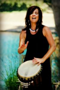 Melinda drumming
